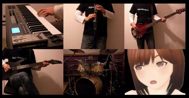 誕生日のお祝いに「寧々のテーマ・NEWラブプラス」を全パート弾いてみた ‐ ニコニコ動画(原宿) より