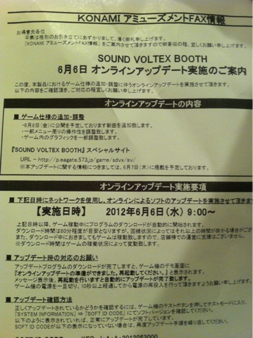 SOUND VOLTEX BOOTH / FLOOR より